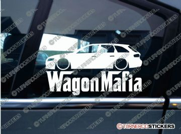 LOW Audi A4 B8 avant WAGON MAFIA Lowered car sticker , Decal